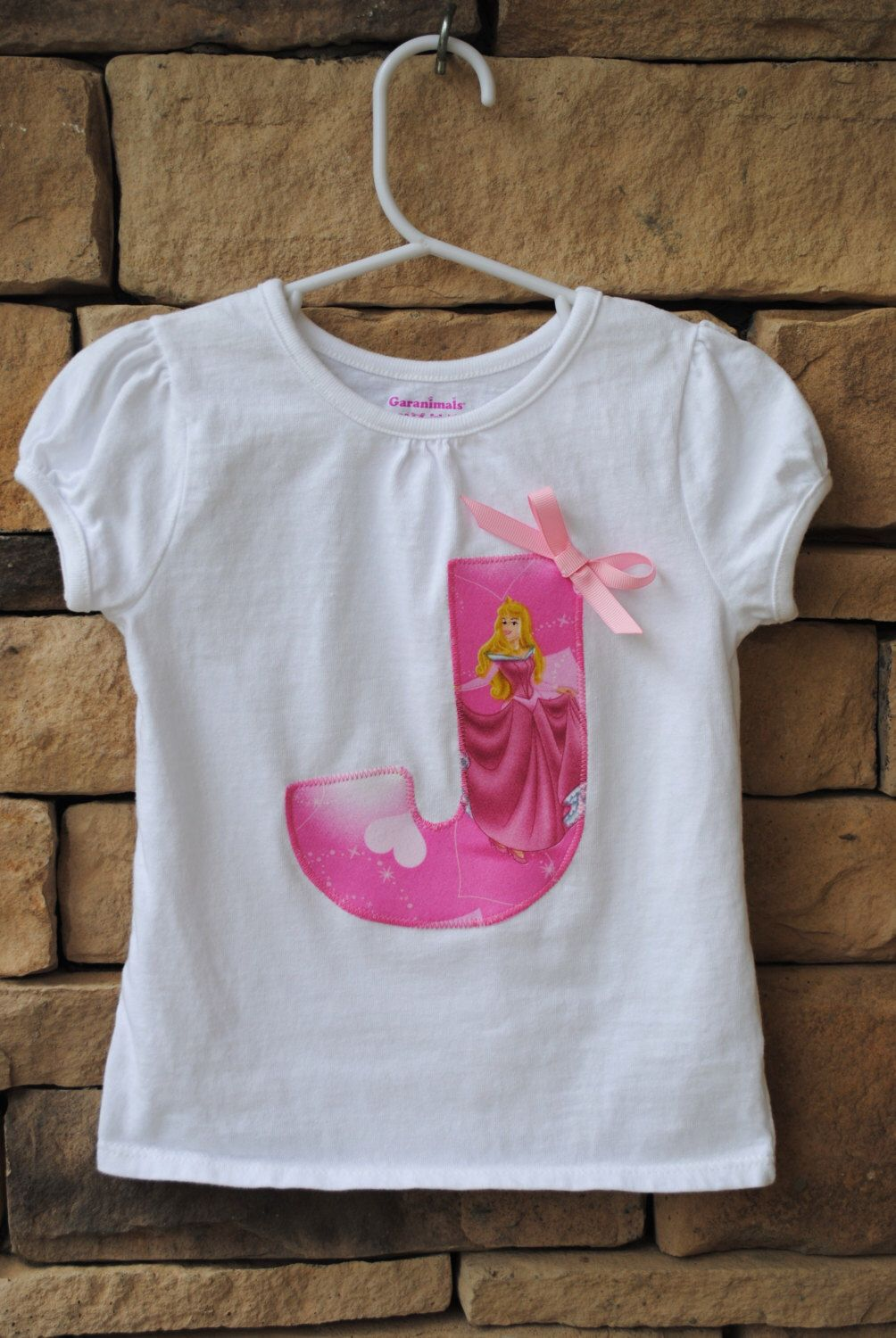 Disney Princess Birthday Shirt For Girls Personalized Monogram Initial Or Number Toddler