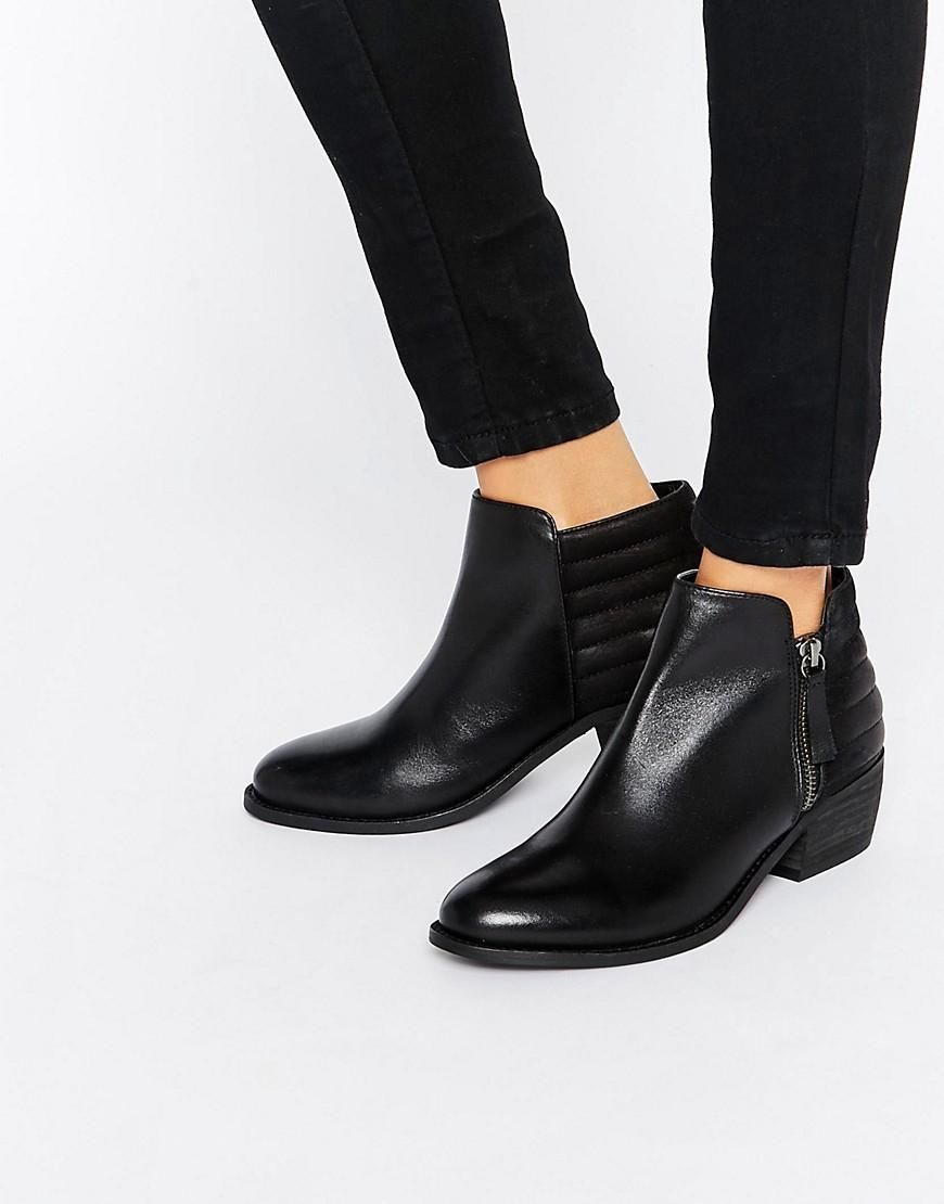 8a214d05254 Dune | Dune Petrie Black Leather Ankle Boot at ASOS | Shoes | Black ...