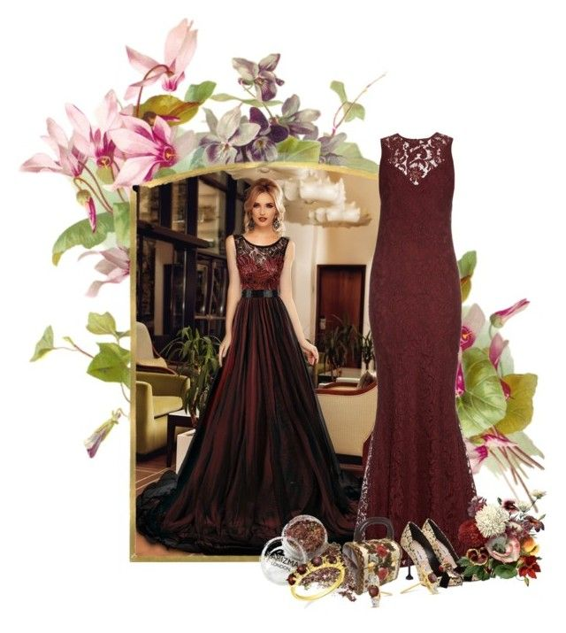 """Burgundy"" by sensitiveheart ❤ liked on Polyvore featuring Galvan and Miu Miu"