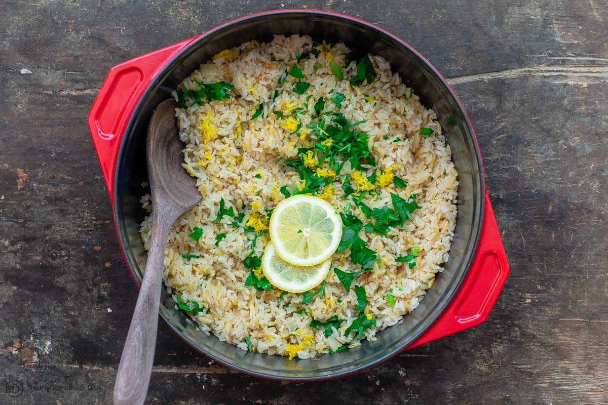 Greek Lemon Rice #greeklemonrice