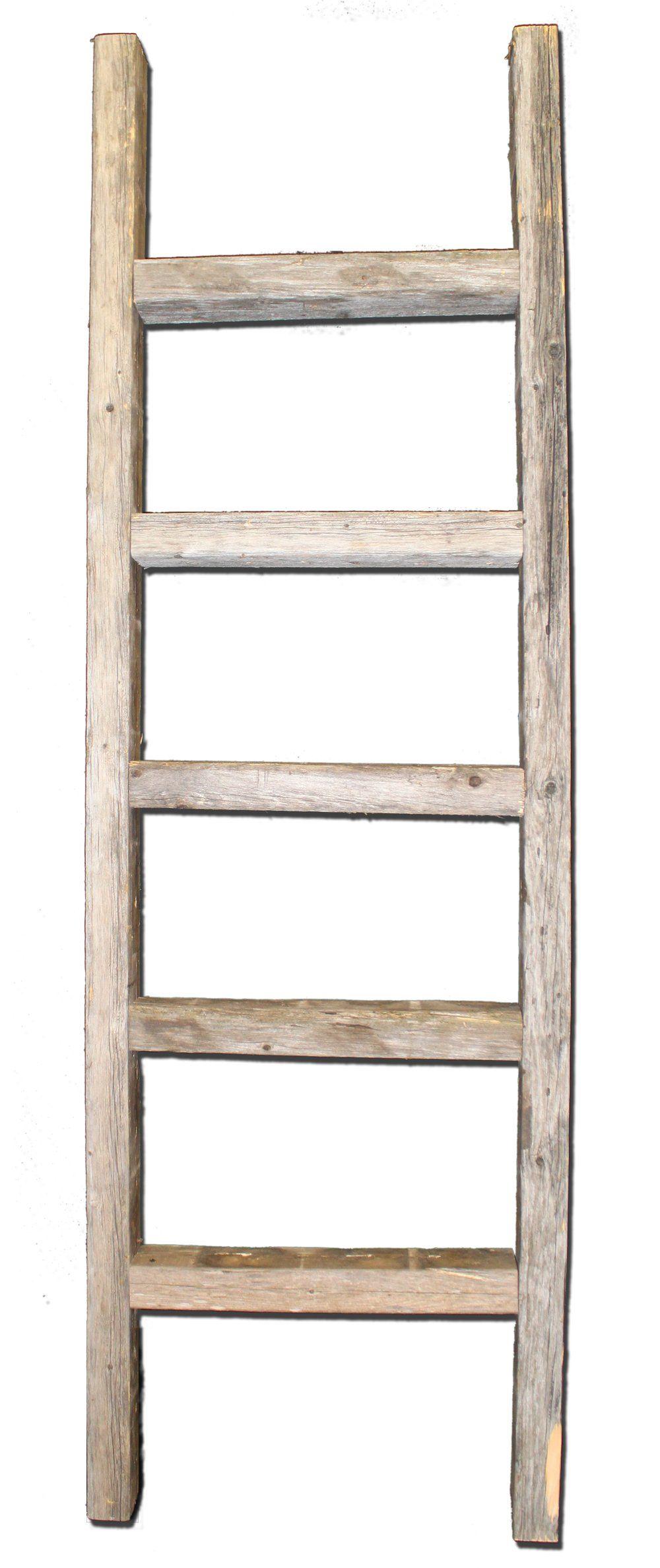 Decorative Ladder Reclaimed Old Wooden Ladder 4 Foot Rustic Barn Wood Old Wooden Ladders Old Wood Ladder Ladder Decor