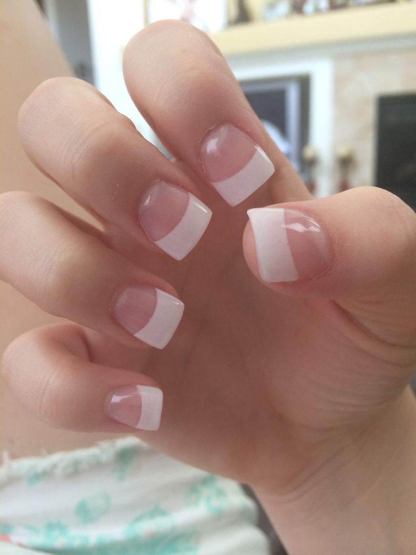 French tip acrylic nails!! | French tip acrylic nails ...