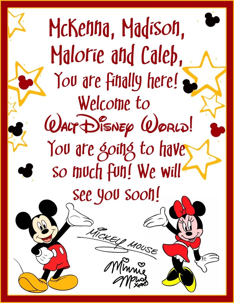 Going To Disney: Image Result For Surprise Going To Disney World Letter
