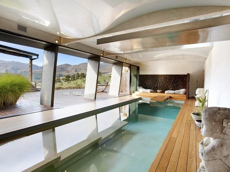 Secluded New Zealand Dwelling With Majestic Views Indoor Swimming Pools Cool House Designs House Design