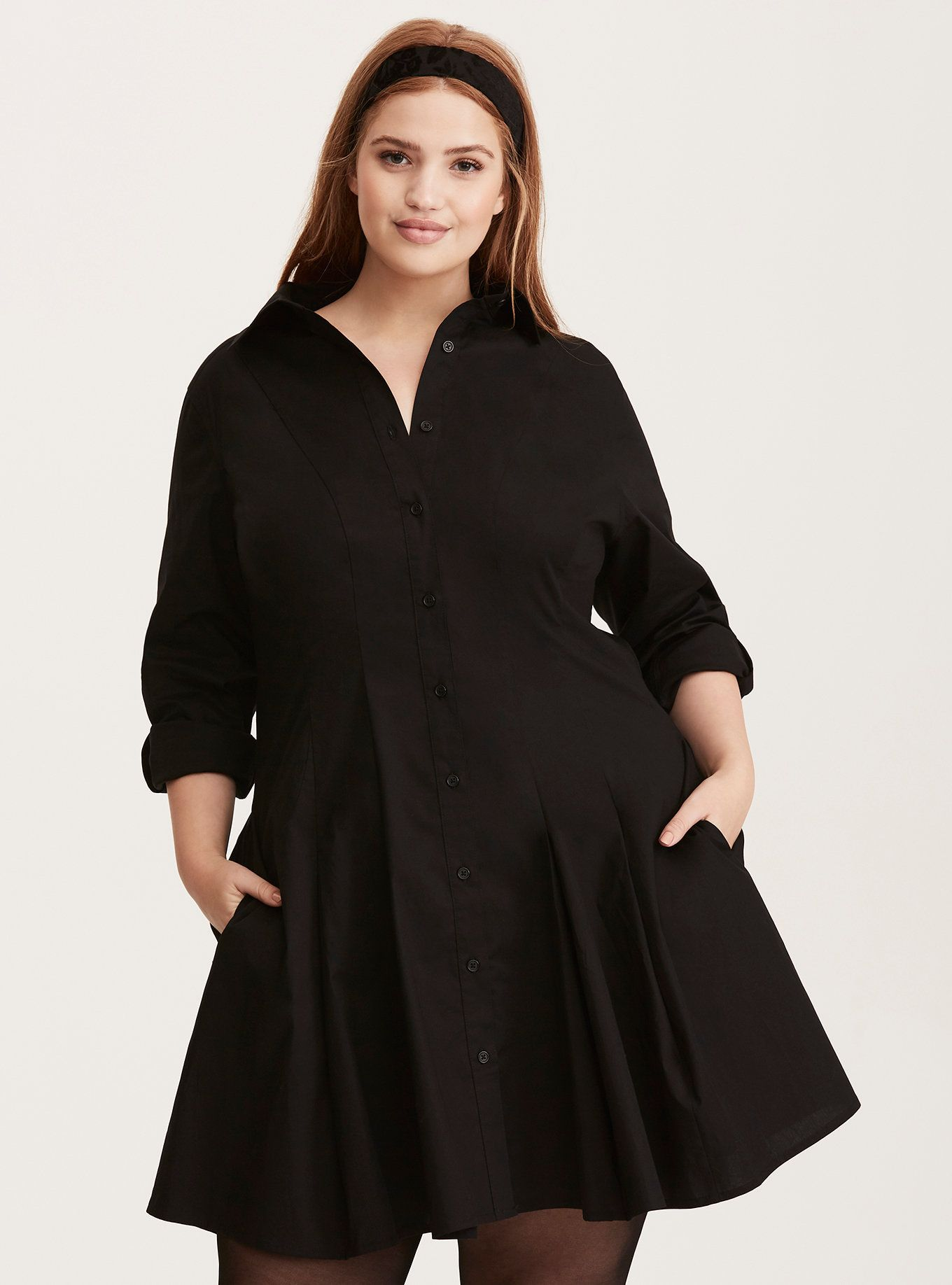 2e7d1e8145a A dress with the androgynous appeal your closet has been missing. The crisp  poplin is work shirt-inspired  fluted detailing along the skirt lends a  feminine ...
