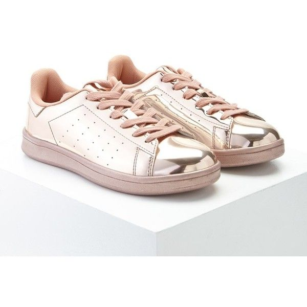 Forever21 Metallic Lace Up Sneakers 28 Liked On