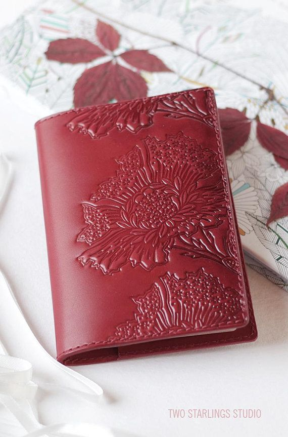 Red Berry Leather Passport Cover for Women c11aecbe89