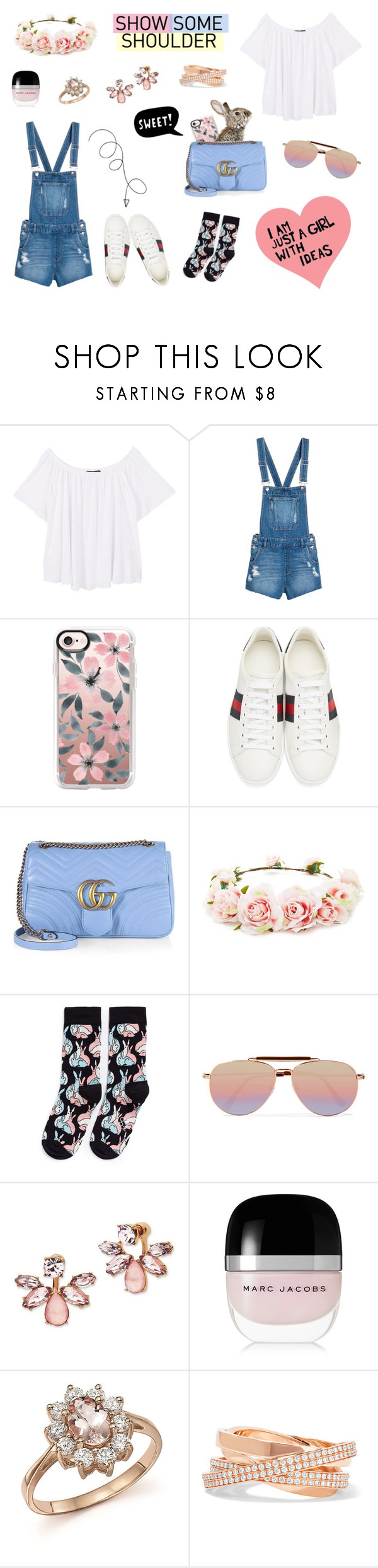 """Easter Outfit 🐰"" by ludmilopez ❤ liked on Polyvore featuring MANGO, Casetify, ESPRIT, Gucci, Forever 21, Happy Socks, Tom Ford, Marchesa, Marc Jacobs and Bloomingdale's"