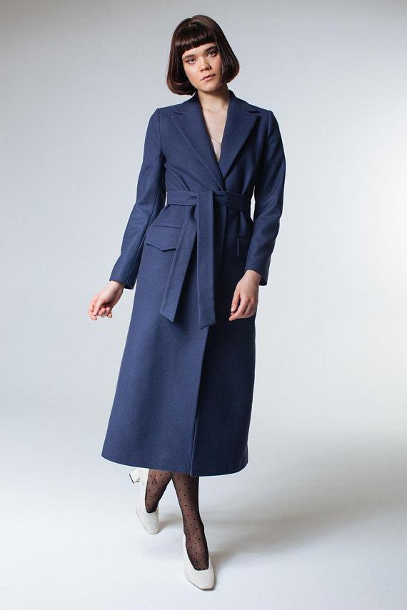 bb562d499 Navy Coat Dark Blue Coat Navy Blue Coat Navy Wool Coat Women Coat ...