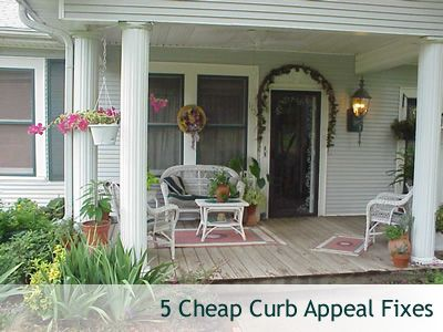 5 Cheap Curb Appeal Fixes Your Neighbors Will Envy Front Porch Decorating Porch Decorating Country Front Porches