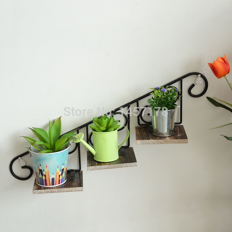 Iron Cast Plants Pot Wall Mount For Indoor Outdoor And