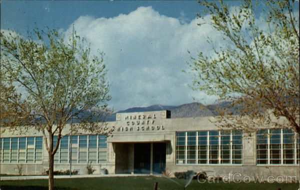 Mineral County High School Hawthorne Nevada I D This And Nv
