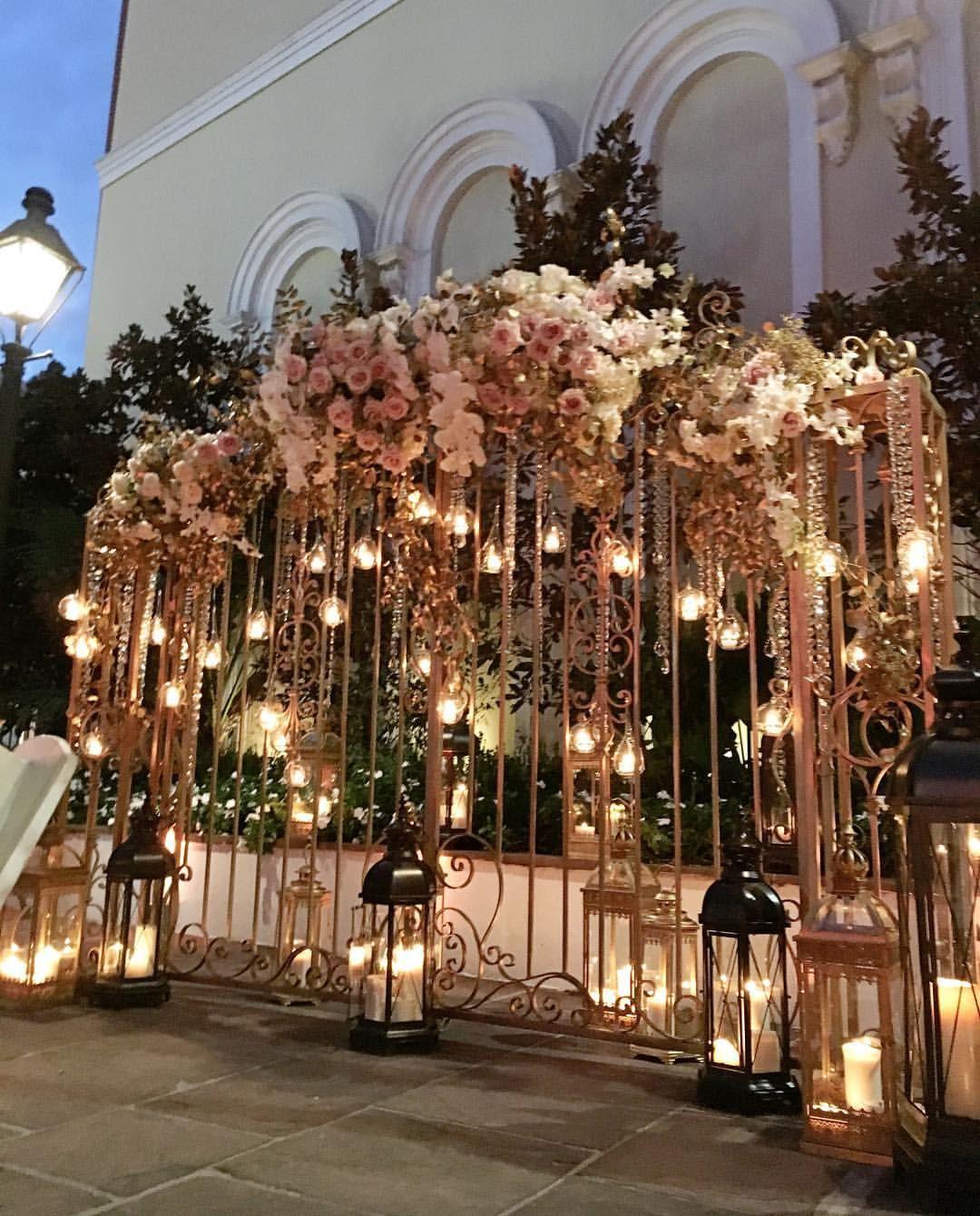 Wedding entry decoration ideas  Pin by Gagankang on wedding deco  Pinterest  Iron gates Backdrops