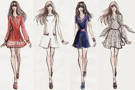 Resultado de imagen para bocetos de diseños de ropa casual | Bocetos de  moda, Figurines de moda, Ilustración de moda