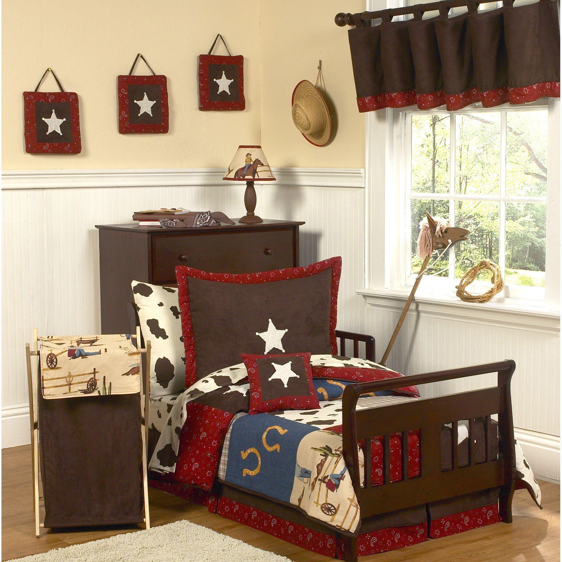 Sweet jojo designs construction zone lamp shade free shipping on - Sweet Jojo Designs Boy 5 Piece Western Comforter Set