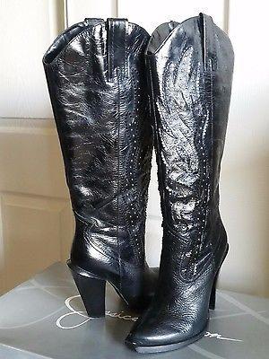 c277636235 Jessica Simpson Abilene Cowboy Cowgirl Boots - Women s 7.5B