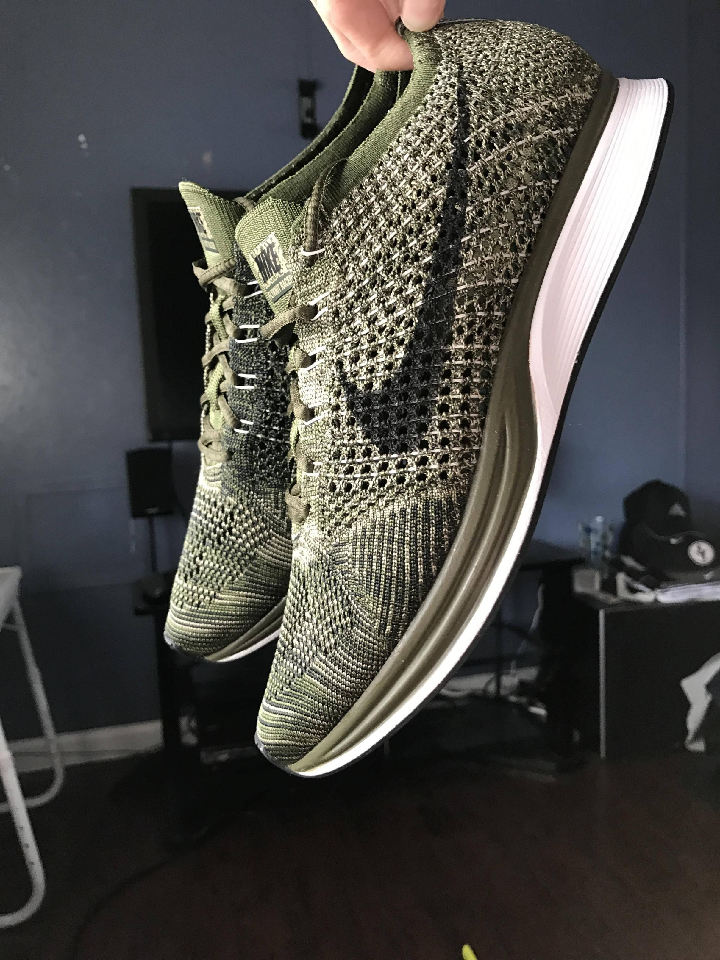 004de035fa3c Pickup  Nike Flyknit Racer  Rough Green