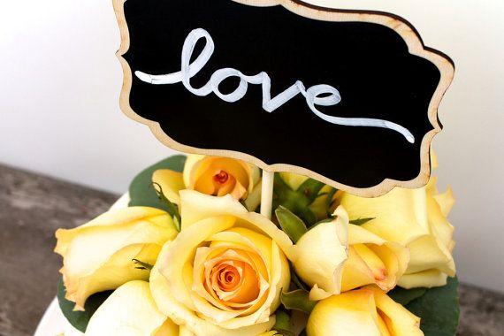 Beautiful Wood Wedding Cake Topper Blank Chalkboard by Charlie Chalk Designs www.CharlieChalk.com