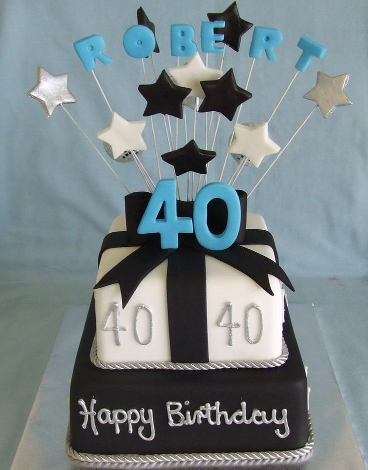Image Result For Male 40th Cake Ideas Cake Pinterest 40th Cake