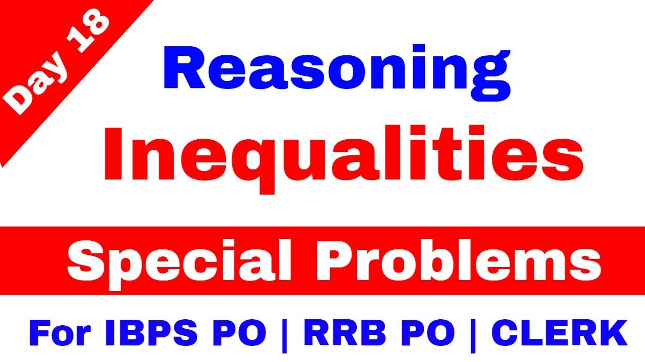 500 Inequality Reasoning Questions and Answers PDF Download