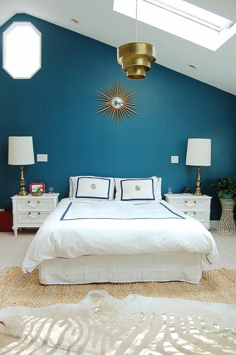 pareti-camera-da-letto-blu-mobili-stile-classico | Camera da ...