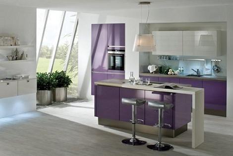 Cocinas Color Violeta Diseno De Cocina Moderna Cocinas Modernas