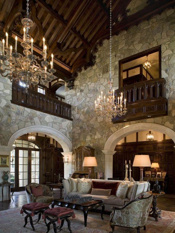 Mittelalter Dekoration Im Innen Design Große Kronleuchter
