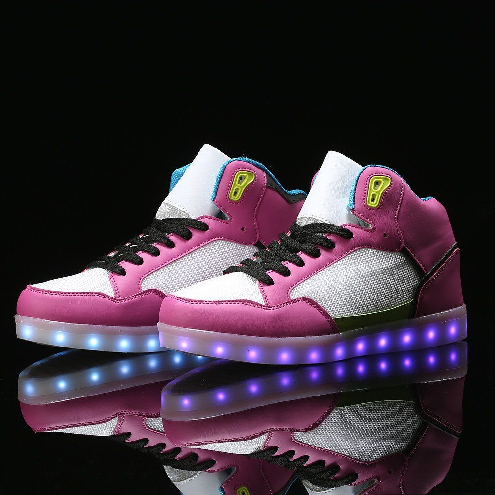 Buy women s pink led light up shoes with remote control.With this remote  control da9c757ef