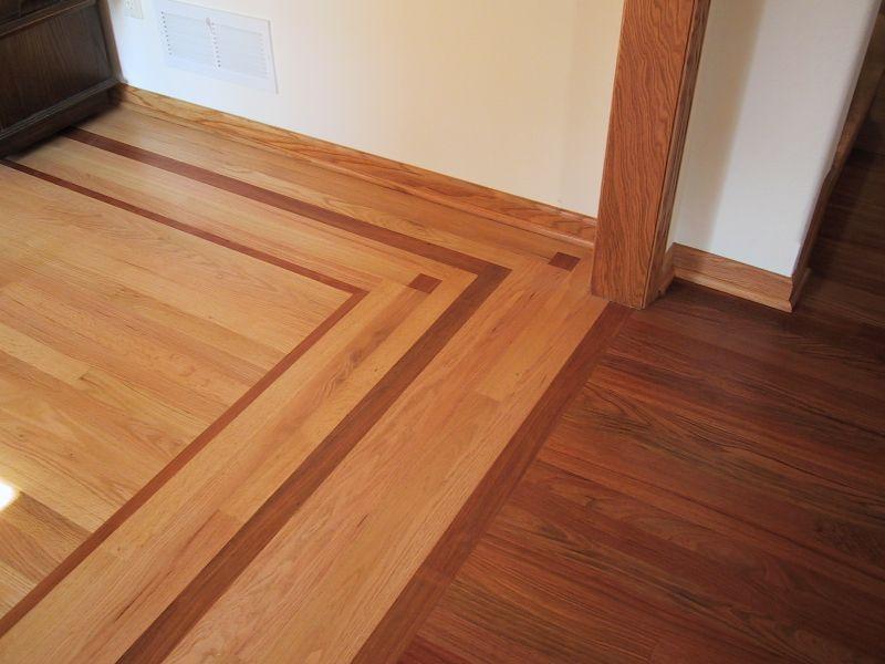 Custom Wood Border Hardwood Flooring Anderson Floor Company Wood Floor Design Wood Floor Pattern Floor Design