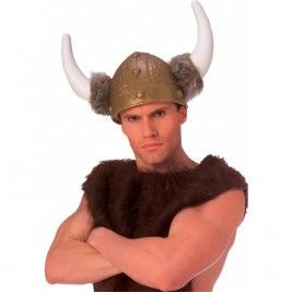 VIKING HELMET DELUXE WITH FUR TRIM