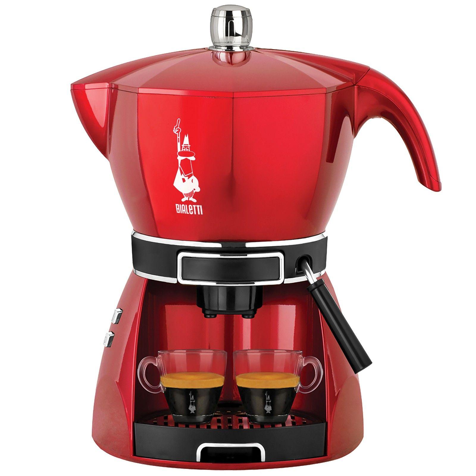 Justmoment BIALETTI MOKISSIMA TRIO MACCHINA CAFFE POLVERE CIALDE CAPSULE CF43 ROSSA