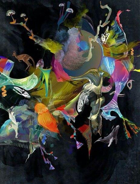 Fazendo uma alusão descabida, parece; Guernica. Essa imagem intriga-me, a confusão, a mixórdia, e o pior é colorida.
