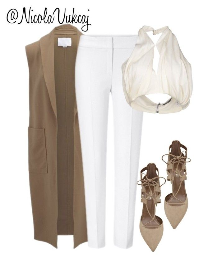 """Untitled #200"" by nicolavukcaj ❤ liked on Polyvore featuring Alexander Wang, ESCADA, Aquazzura and Balmain"