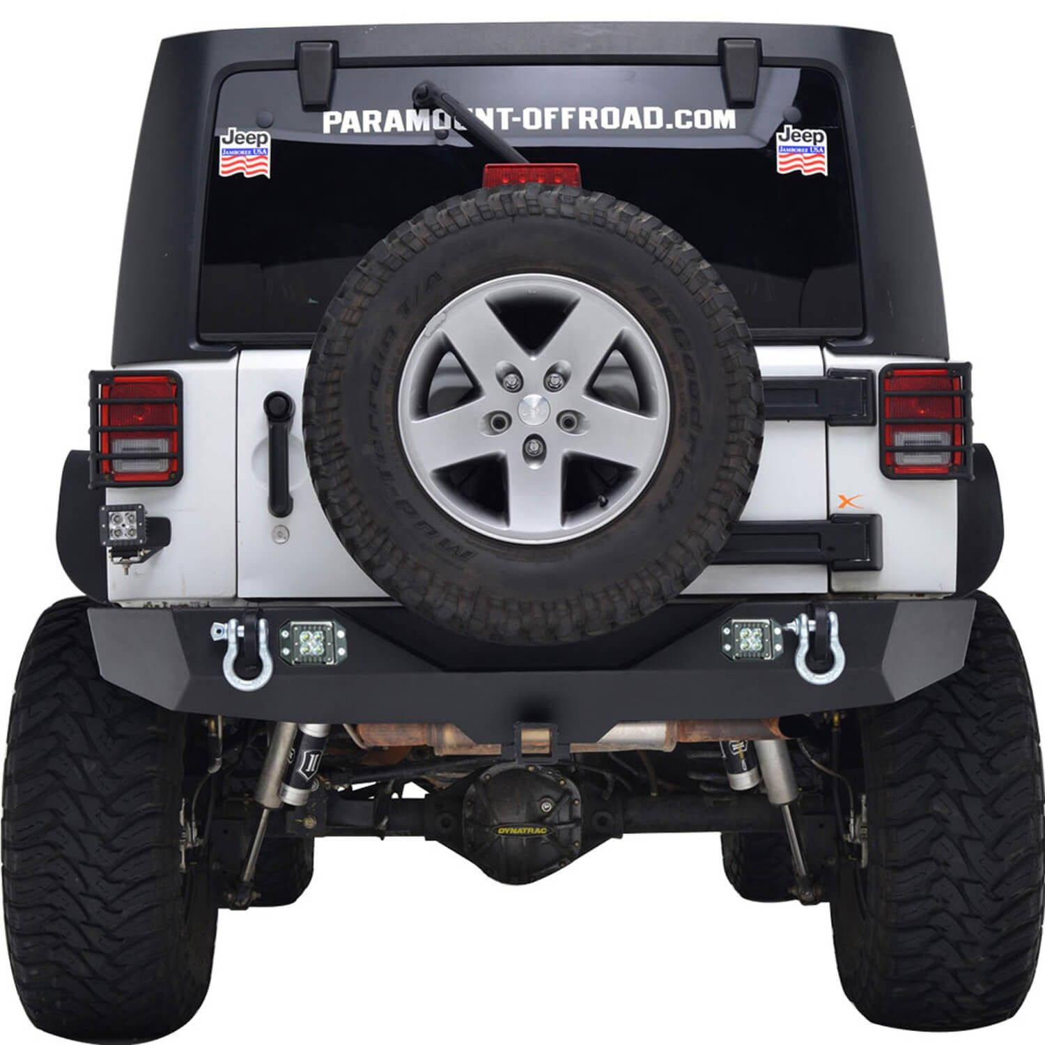 07 16 Jeep Wrangler Jk Heavy Duty Rock Crawler Rear Bumper W Led Sub