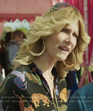 541c328d5b61 Renata's cat print jumpsuit on Big Little Lies. Outfit Details: https://