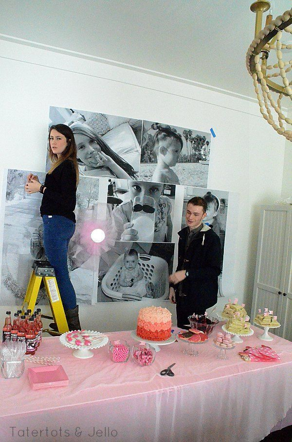Make a giant photo wall using pictures printed on for What size paper are blueprints printed on