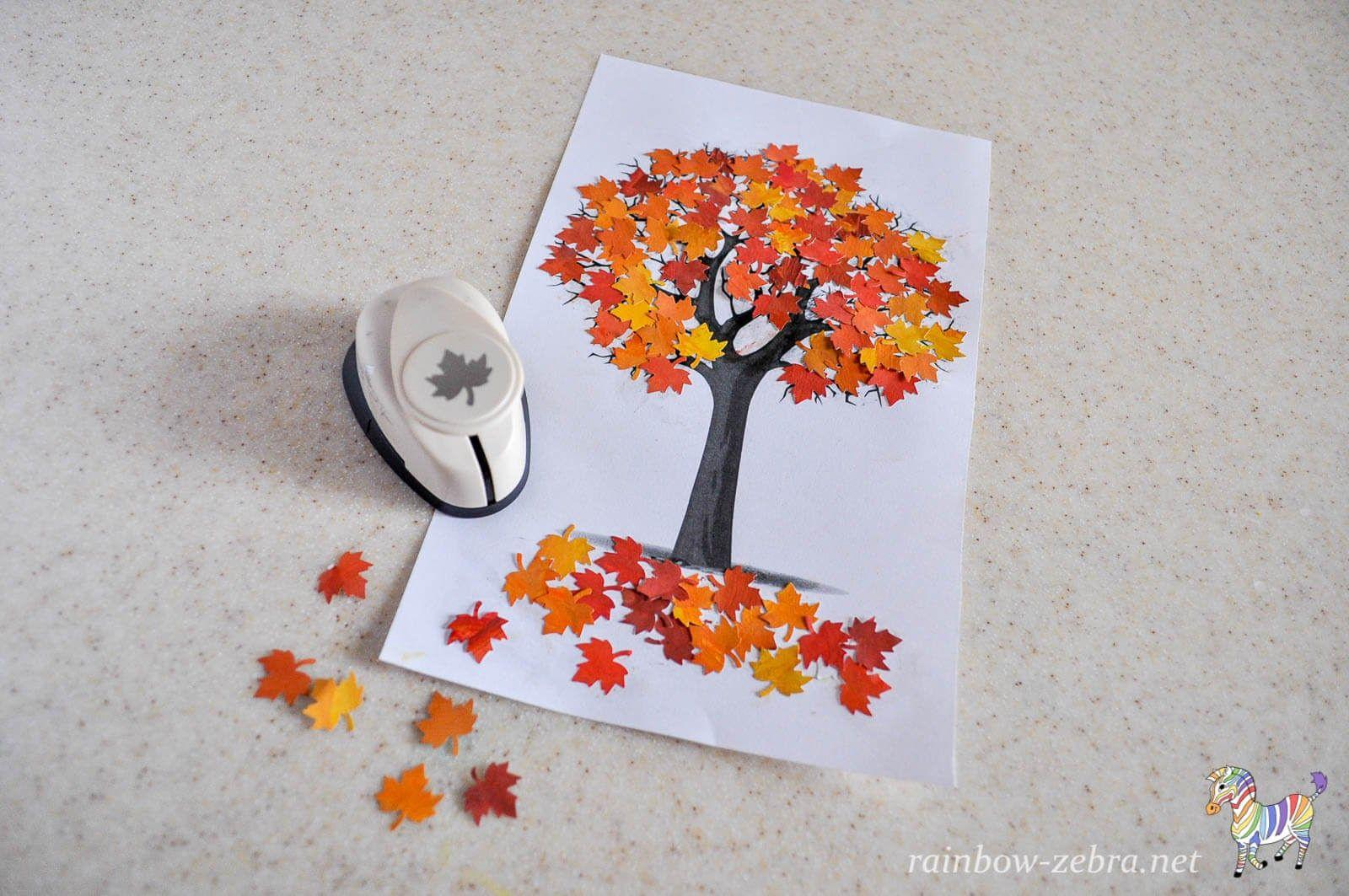 Осеннее дерево. Аппликация | Детские осенние поделки ...