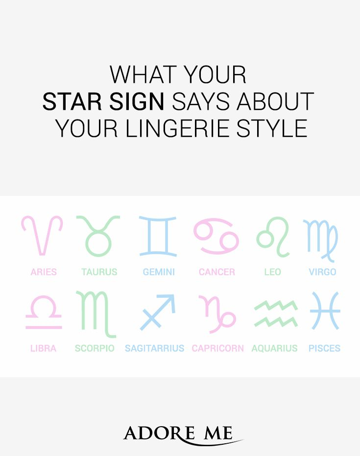 Theres No Better Way To Find The Ideal Lingerie For Yourself Than To Trust In The Cosmos Click To Discover The Perfect Lingerie Styles For Your Sign