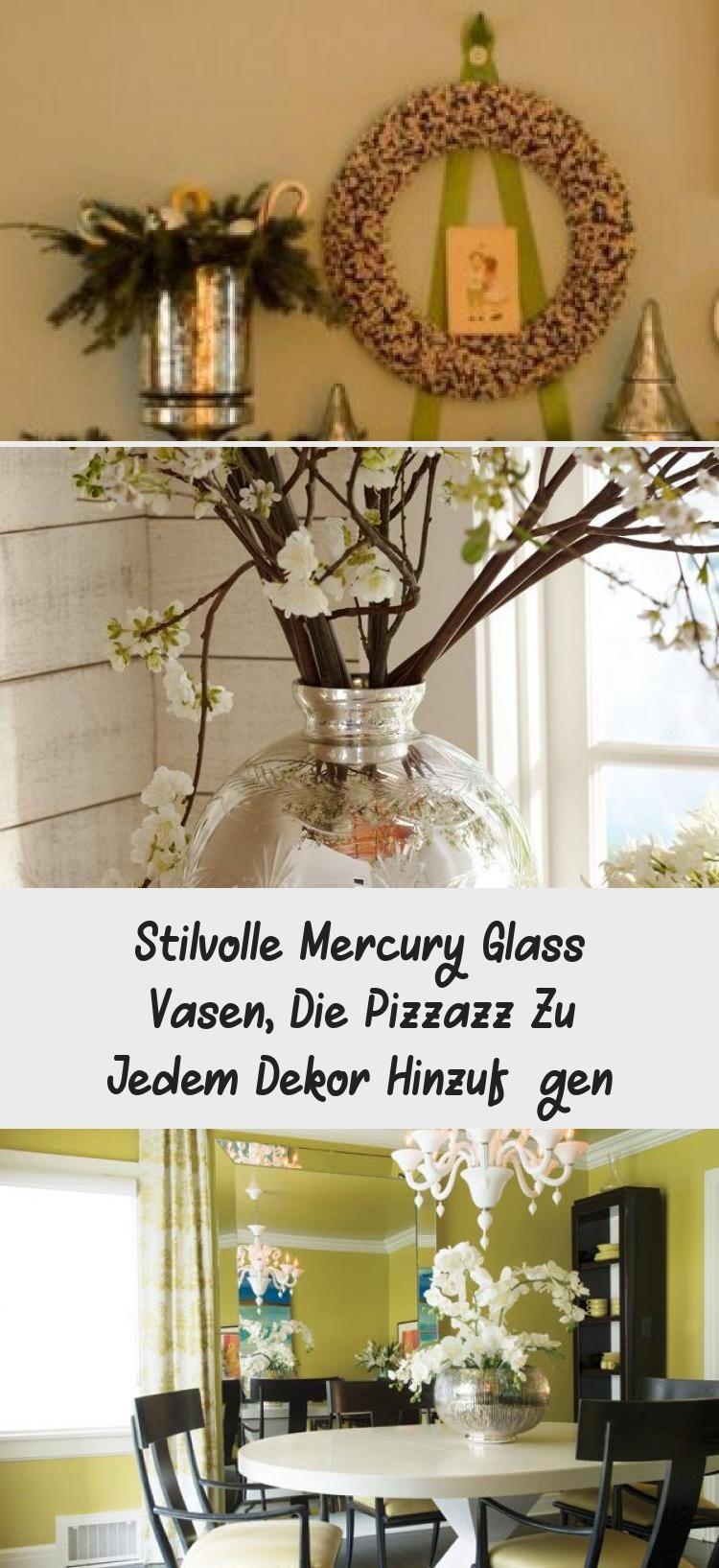 Photo of Stilvolle Mercury Glass Vasen, die Pizzazz zu jedem Dekor hinzufügen #pflanzen …