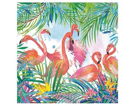 20 Flamingo Design 3-Ply Paper Napkins for Decopatch CraftsDecoupage Crafts