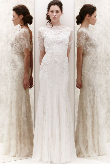 "Brides.com: Our Favorite Lace Wedding Dresses from the Bridal Runways. ""Mimosa"" wedding dress, Jenny Packham  See more Jenny Packham wedding dresses."