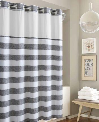 Hookless Yarndye Stripe 3 In 1 Shower Curtain Reviews Shower