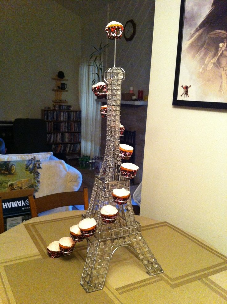 how to make an eiffel tower cupcake stand