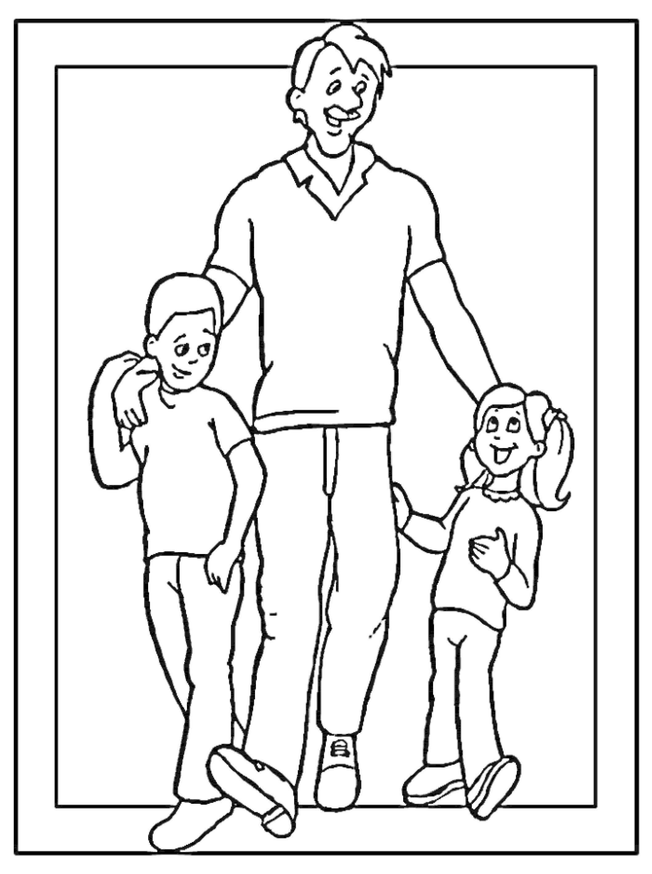 Een Leuke Kleurplaat Voor Vaderdag Kijk Op De Surfsleutel Voor De Printversie Kleurplaten Gratis Kleurplaten Vaderdag