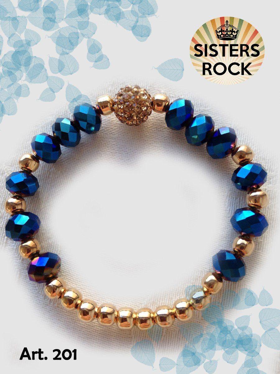 41aca16171b5 pulseras elásticas cristal de roca - sisters rock