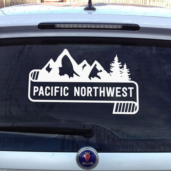 PNW Pacific Northwest Vinyl Decal Unique Custom Graphic For Car - Plastic stickers for cars