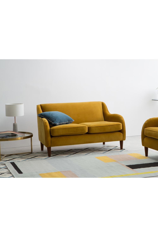 Made Sofa Gelb 2 Sitzer Sofa Sofa Bequeme Sofas