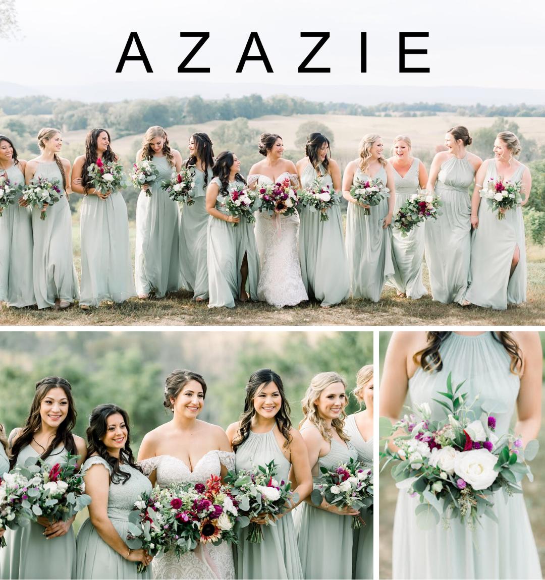 Azazie Dusty Sage Bridesmaids Dresses Bridesmaid Dresses Dusty Sage Sage Bridesmaid Dresses Wedding Color Inspiration