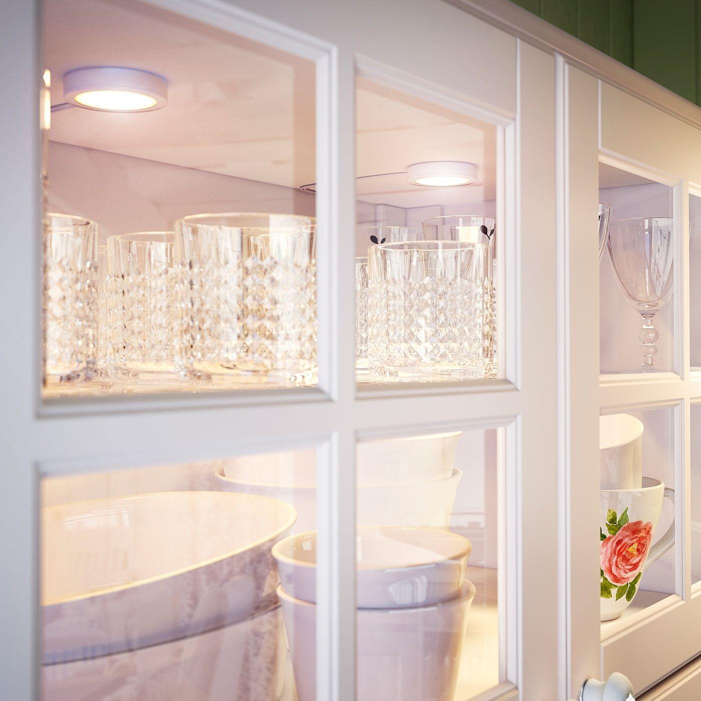 IKEA OMLOPP LED spotlight white in 2020 Ikea, Bookcase
