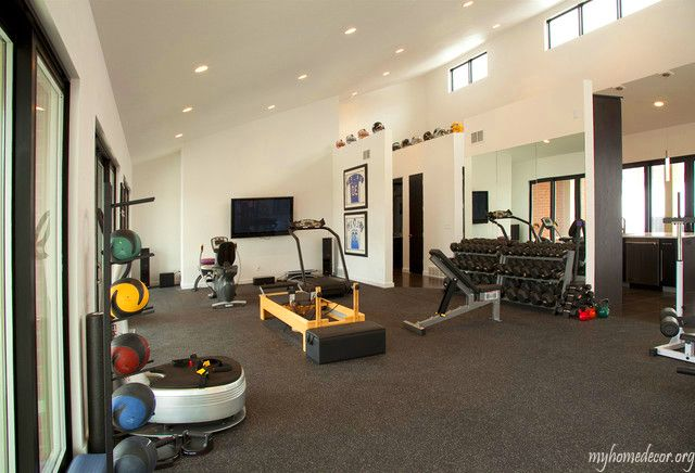 Pool House GYM Exercise Area | Dream Home | Pinterest | Pool houses ...